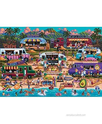 Hawaiian Food Truck Festival 2000 Piece Jigsaw Puzzle