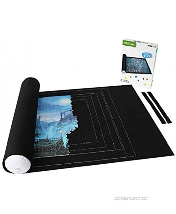 Lavievert Jigsaw Puzzle Storage Roll Mat with Unique Auxiliary Line Design for Up to 1,500 Pieces Puzzle Puzzle Saver for Adults & Kids Environmental Friendly Material