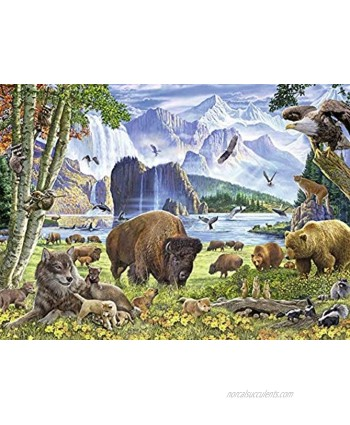 Ravensburger 82055 Great Outdoors Puzzle Series: North American Nature | 300 PC Puzzles for Adults – Every Piece is Unique Softclick Technology Means Pieces Fit Together