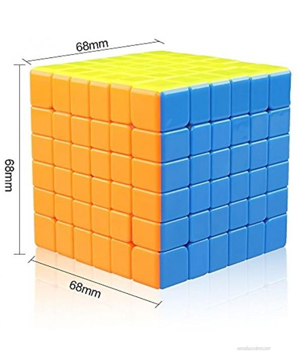 D-FantiX Cyclone Boys 6x6 Speed Cube Stickerless 6x6x6 Magic Cube Puzzles 68mm G6 Version