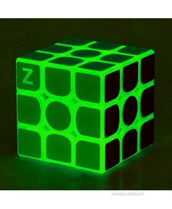Green Luminous Speed Cube 3x3 Glow in Dark Magic Cube Puzzle Toy