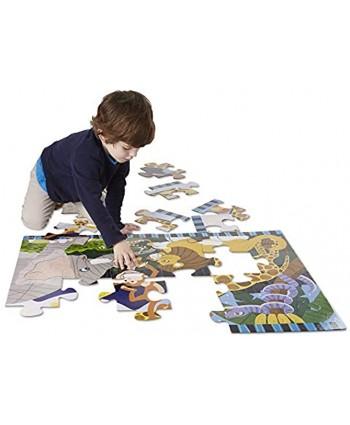 Melissa & Doug Safari Social Jumbo Jigsaw Floor Puzzle 24 pcs 2 x 3 feet