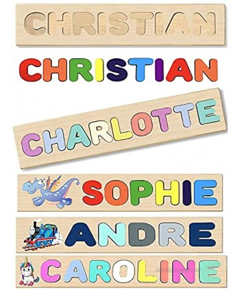 Build a Name Puzzle Learn-Play & Decor for Kids Room Includes Engraving Message Handmade Wooden Personalized Name Puzzle for Kids Educational Learning Toy Made in U.S.A