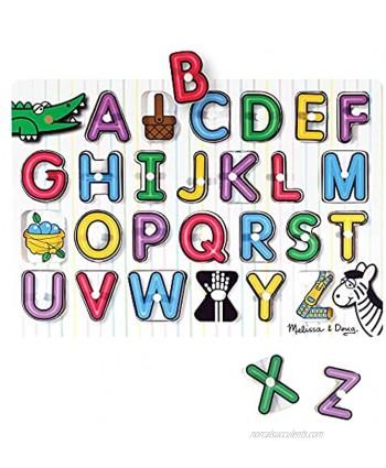 Melissa & Doug See-Inside Alphabet Wooden Peg Puzzle 26 pcs