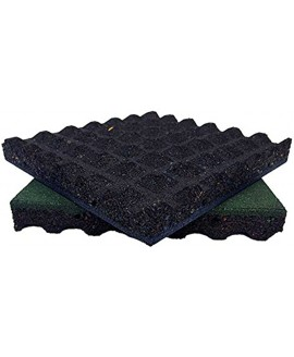 """Rubber-Cal """"Eco-Safety Interlocking Playground Tiles 2.50 x 19.5 x 19.5 inch 10 Pack 28 Square Feet Coverage Black"""