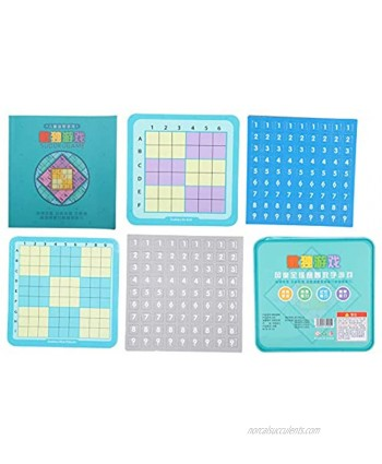 GLOGLOW 4Pcs Wooden Sudoku Puzzles Board Game Magnetic Sudoku for Kids Logical Thinking Ability Math Brain Teaser Toys Educational Desktop Game