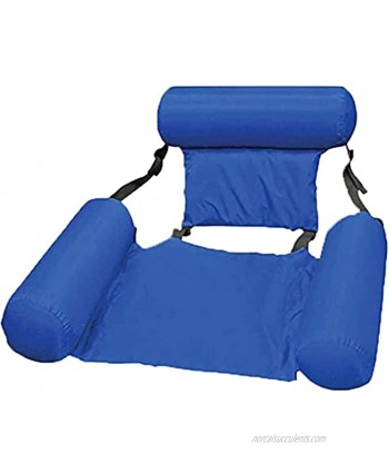 Swimming Pool Float Chair Inflatable Water Chairs for Adult Pool Lounger Floating Lounge Foldable Seats Portable Lazy Water Floats Bed for Summer Beach Swimming Pool Party
