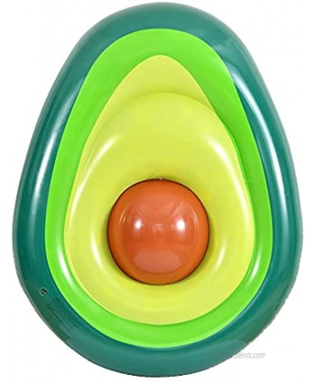 Kurala Inflatable Avocado Pool Float Giant Pool Floats Floatie Summer Water Toy for Kids Adults 5 FT Long