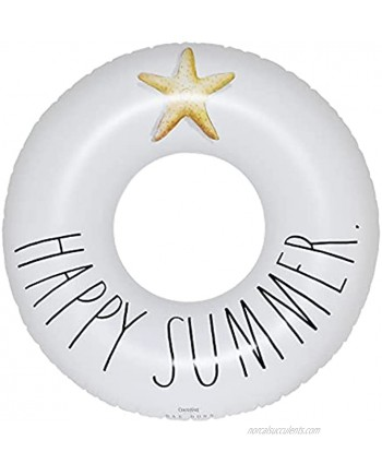 Rae Dunn Ring Float by CocoNut Float Adult Size Large 48 Inch Inflatable Raft & Durable Water Inner Tube Stable Ride-On for Summer Parties & Swim Events