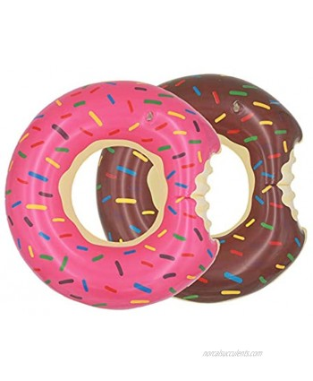 Ucity Kids Donut Pool Floats 2 Pack 23.6-inch Inflatable Swimming Rings Tubes for Swimming Swim Raft Summer Beach Games Party Decoration