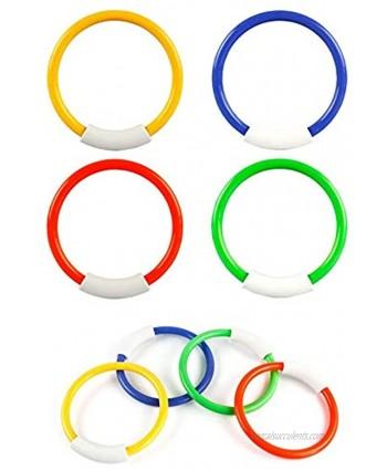 Carykon 8 Pcs Dive Rings Underwater Swimming Pool Toy Rings-5 1 2 Inch Diameter