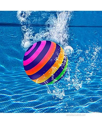Swimming Pool Ball Ball Game for Pool 9 Inch Water Filled & Inflatable Pool Toys Ball for Summer Water Parties Passing Dribbling Diving and Pool Games for Teens Kids or Adults Colorful
