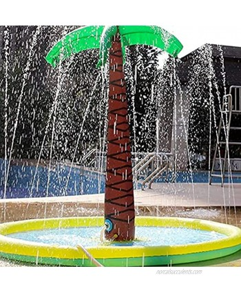 """Linkidea Splash Pad Sprinkler for Kids Inflatable Water Toys 71"""" x 59"""" Palm Tree Summer Backyard Outdoor Spray Mat Toddlers Child Play Mat Pool Fit Wading Learning Yard Lawn Party"""