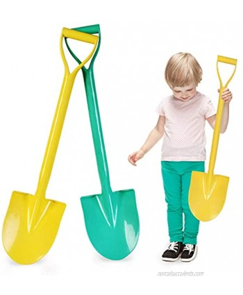 Beach Shovels 25 Inch Sand Shovels for Kids Heavy Duty Kids Plastic Beach Shovel Tool Kit Shovel Toys for Toddlers with Handle for Digging Sand Beach Fun Gift Twin Set Bundle 2 Pack