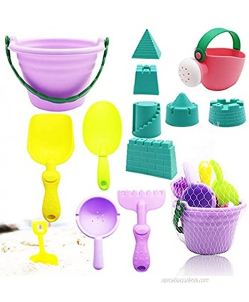 Meirrnyyu Beach Sand Toys Set,Sand Play Castle Toys for Baby with Bucket,Watering can,Sand Shovel Tool Kits,Models and Molds for Kids Toddlers Boys Girls