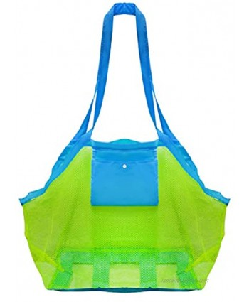 Mesh Beach Toys Bag Extra Large Beach Bags and Totes Sand Tote Bag Storage Bags Children Toys Beach Toy Organizer Kids Sand Toys Collector Perfect for Holding Toys Stay Away from Sand
