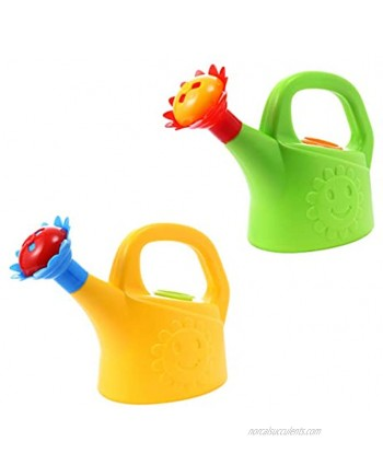 TOYANDONA 2PCS Watering Can Toys Interesting Plastic Watering Can Toy Early Educational Toys Play House Watering Can Toy for Children Random Color