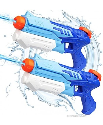 D-FantiX Water Guns for Kids 2 Pack Super Water Blaster Soaker Squirt Guns 300CC Long Range Summer Swimming Pool Beach Party Favors Water Fighting Play Toys for Kids Adults Boy Girl