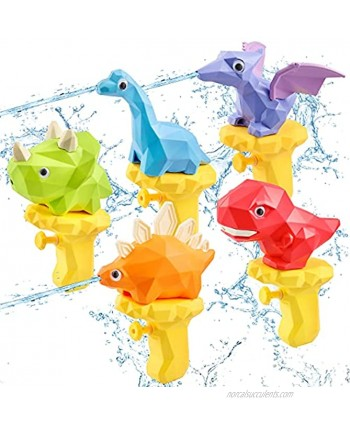 Water Gun for Kids 5PCS Pool Toys Summer Water Toys Dinosaur Squirt Guns Toddler Outdoor Toys Swimming Pool Beach Games Backyard Outside Toys Birthday Gifts for Boys Girls Age 1 2 3 4 5 6