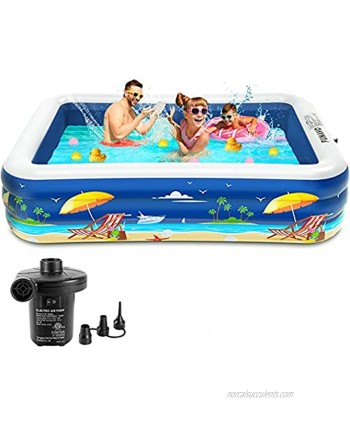 """Inflatable Pool 100"""" X 71"""" X 22"""" FUNAVO Full-Sized Swimming Pool for Kids and Family Blow Up Pool for Backyard Adults Babies Toddlers Garden Outdoor Summer Party Lounge Pool"""