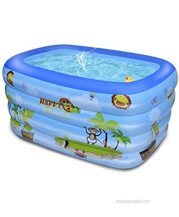 Xinrimoy Inflatable Family Swim Play Center Pool 47 x 35 x 13in Thick Blow Up Pool with Inflatable Soft Floor Outdoor Baby Play Pool for Family Garden Outdoor Backyard