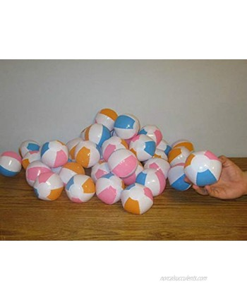 """3 New Multi Colored Mini Beach Balls 5"""" Inflatable Pool Beachball Party Favors"""