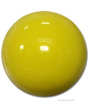 Beachballs 9-inch Solid Yellow Beach Ball