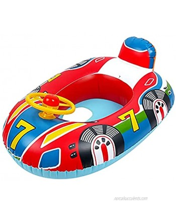 Baby Float Boat,Inflatable Kids Water Float Ring with Handle Inflatable Baby Pool Float Ring,Safe Material and Soft Seat,Baby Swimming Ring for 1-2 Years Old Kids Summer Beach Pool Water Toys