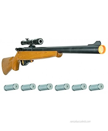 Kids Electronic Bolt Action Rifle Toy Hoopla Toys Toy Gun w  Real Firing Sounds and Play Ammo Hunting Gift Model: HT-10021