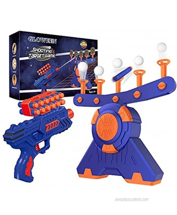 Shooting Game Toy for Age 5 6 7 8 9 10+ Years Old Kids Boys Floating Ball Targets Shooting Practice with Foam Blaster Toy Gun  10 Balls  5 Targets Ideal Gift Compatible with Nerf Toy Guns