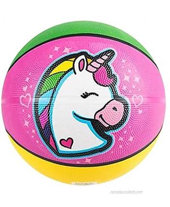 ArtCreativity Rainbow Unicorn Basketball for Kids Bouncy Rubber Kick Ball for Backyard Park & Beach Outdoor Fun Beautiful Rainbow Colors Durable Outside Toys for Boys & Girls Sold Deflated