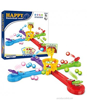 EIAIA Gift Toys for 3-8 Years Old Boys Girls Learning Early Developmental Toy Birthday Festival Gift for Kids Age 3 4 5 6 7 8 Interactive Toy Basketball Court Educational Games for Parent-Child