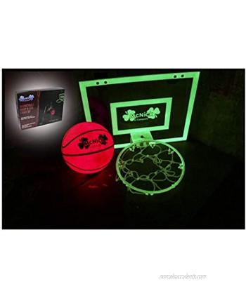 MCNICK & COMPANY Glow in The Dark Door Basketball Hoop for Kids Indoor Kids Mini Basketball Hoop & Ball with Pump Included