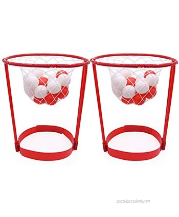 SANESKY 2 Pack Head Hoop Basketball Party Game for Kids and Adults Carnival Game Adjustable Basket Net Headband with 20 Balls for Carnival Party Birthday Party Family Indoor Outdoor Game