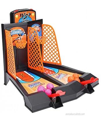 VGEBY Basketball Shooting Game,2-Player Desktop Table Basketball Games Kids Intelligence Toy Tabletop Game Desktop Basketball Toys Set