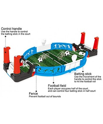 LAJS Mini Football Game Parent‑Child Interaction Safe and Durable ABS Material 2‑Person Table Game 44.8 X 21CM Improve Sense of Competition for Boys Girls