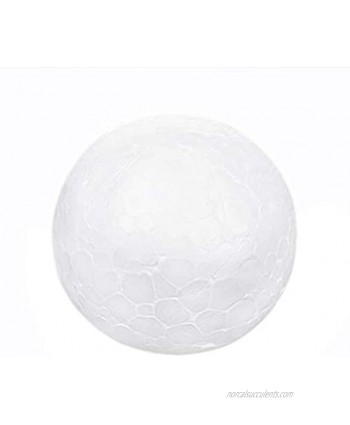 NUOBESTY Solid Ball Children DIY Craft Material 6 pcs Funny Round Ball Ornament Craft Styrofoam Balls Crafting and Decoration Arts Crafts Balls for Hobby Supplies  White Color 7cm
