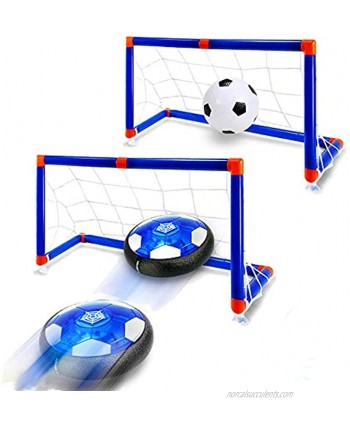 WenToyce Hover Soccer Ball Set with Goal,Kids Toys Air Soccer Rechargeable Indoor Soccer Toys for Boys-Girls-Toddler Floating Football with Light and Foam Bumper Including an Inflatable Ball