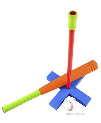 BESPORTBLE 3 in 1 Kids Baseball Training Kit Rubber Outdoor Educational Toys Baseball Baseball Bat for Children Random Color Supplies
