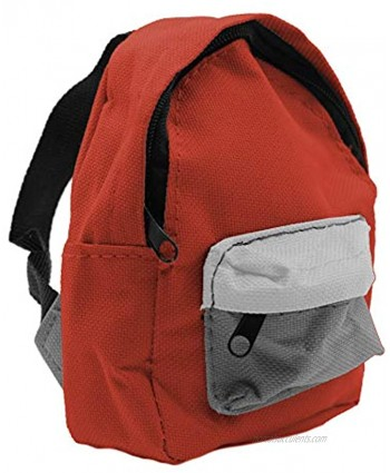"""Fingerboard Backpack Case Red 5"""" x 3.75"""" Miniature Canvas Bag for Tuning Travel & Storage Teak Tuning"""