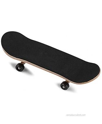 Lazmin Wood Finger Skateboard Alloy Stent Bearing Wheel Fingerboard Novelty Toy Reduce Pressure Kids GiftsBlack