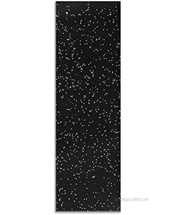 Teak Tuning Pro Duro Grip Tape Black with White Glitter Ultra Premium Custom Teak Silicone Polymer Blend 41A Durometer for Ultimate Grip Comfort Control & Performance 0.7mm Thick