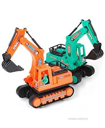 Deerbb 2 Pack Pull Back Excavator Engineering Vehicle Model Simulation Children's Hook Machine Excavator Toy Car