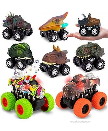 Dinosaur Toy Cars Pull Back Dinosaur Toys for Boy Girls and Dinosaur Toys Monster Trucks Toys for Boys Pull Back Cars Toy Cars for Toddler