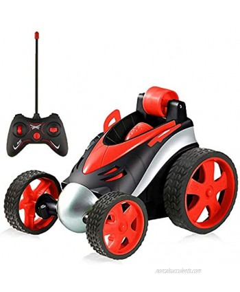 RC Stunt Cars for Kids Remote Control Car Stunt Vehicle High Speed 360 Degree Rotation Flip Racing Car Upright Driving Toys for Boys Girls Red