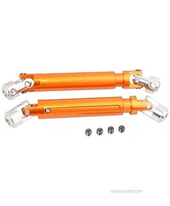 Toyoutdoorparts RC R86042 Orange Aluminum Universal Drive Dogbone 2P Fit RGT 1:10 Rock Cruiser