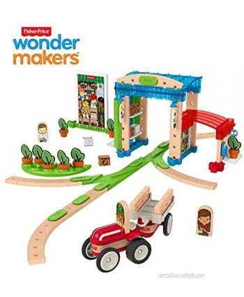 Fisher-Price Wonder Makers Design System Build Around Town Starter Kit [ Exclusive]