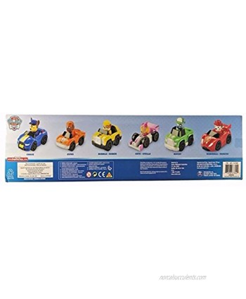 Paw Patrol Racers 6-pack Set Includes Chase Zuma Rubble Skye Rocky and Marshall Racers