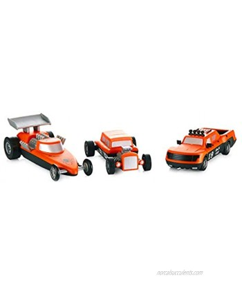POPULAR PLAYTHINGS Mix or Match Vehicles Magnetic Toy Play Set Race Cars